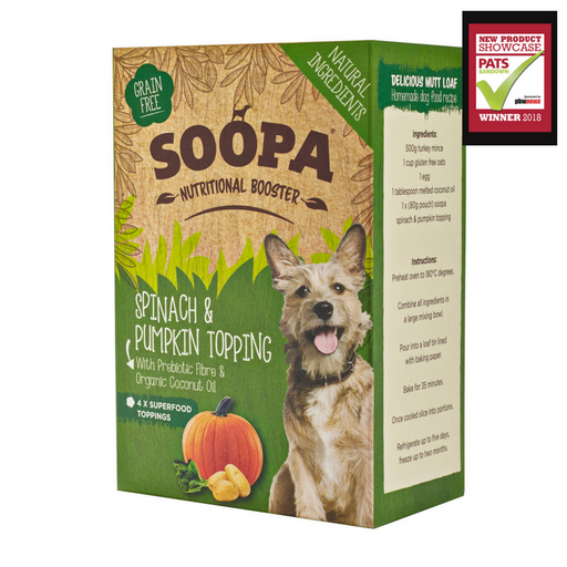 Soopa Spinach & Pumpkin Topping - Soopa - My Pet Gift Box