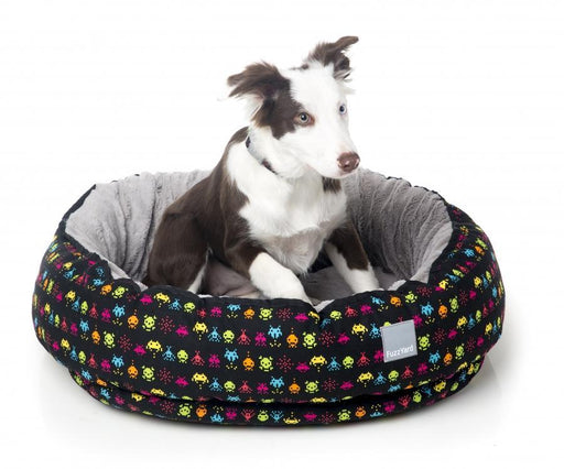 Space Raiders Reversible Dog Bed