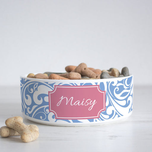 Swirl Print Personalised Pet Bowl - We Love To Create - My Pet Gift Box