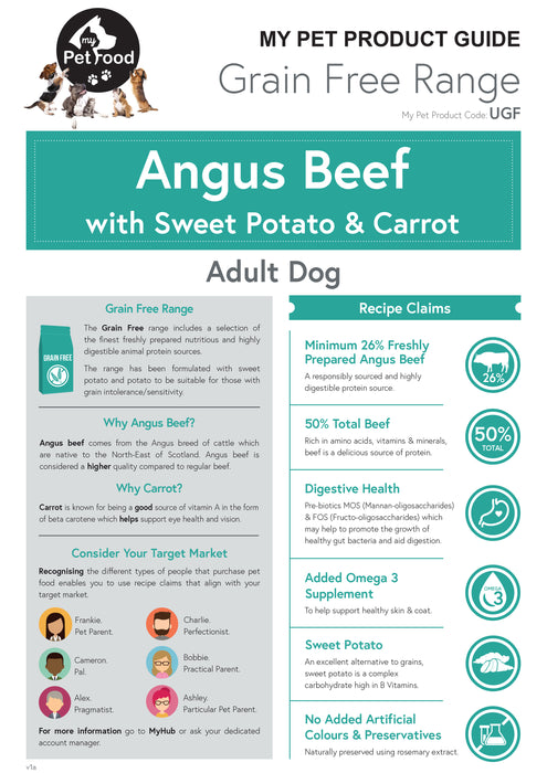 Angus Beef with Sweet Potato & Carrot (Adult Dog) - My Pet Gift Box - My Pet Gift Box