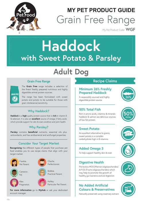 Haddock with Sweet Potato & Parsley (Adult Dog) - My Pet Gift Box - My Pet Gift Box