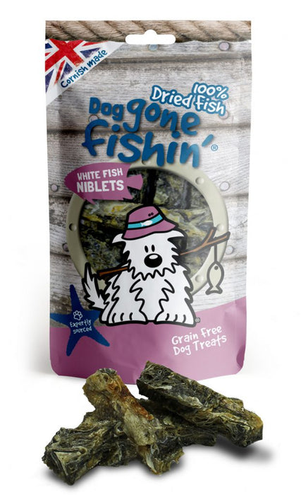 Dog Gone Fishin 100% Dried White Fish Niblets Dog Treats - Dog Gone Fishin - My Pet Gift Box