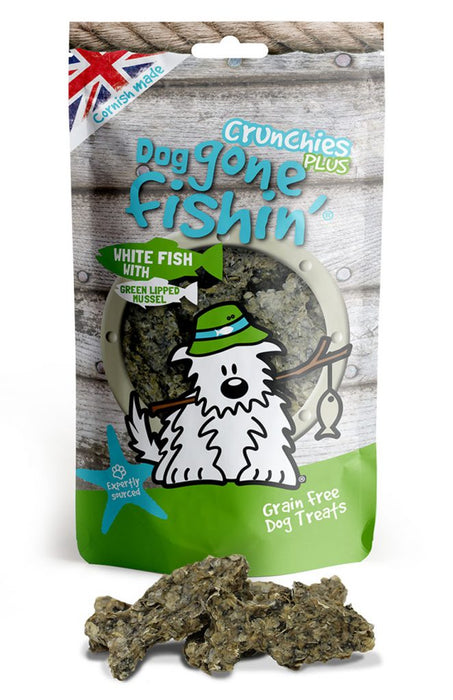 Dog Gone Fishin White Fish with Green Lipped Mussels Crunchies Plus Dog Treats - Dog Gone Fishin - My Pet Gift Box