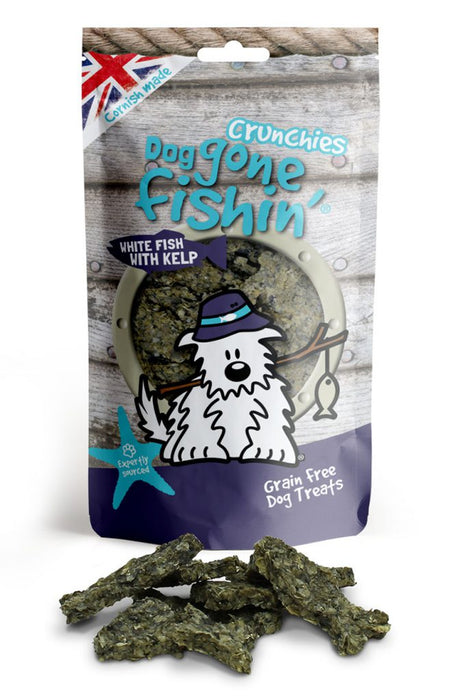 Dog Gone Fishin White Fish with Kelp Crunchies Dog Treats - Dog Gone Fishin - My Pet Gift Box