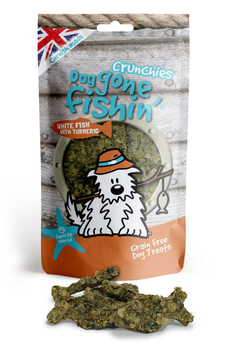 Dog Gone Fishin White Fish with Tumeric Crunchies Dog Treats - Dog Gone Fishin - My Pet Gift Box