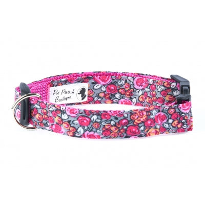 Woodland Rose Dog Collar - Pet Pooch Boutique - My Pet Gift Box