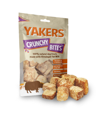 5 x Yakers Crunchy Bites Dog Treats 80g - Vital Pet Products - My Pet Gift Box