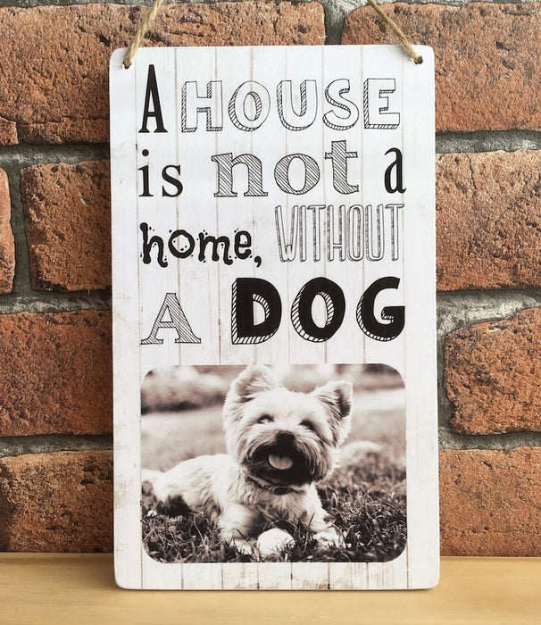 Personalised 'A House Is Not A Home' Photo Plaque - Harts Craft - My Pet Gift Box