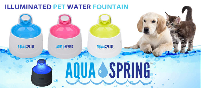 Aqua Spring Illuminated Pet Water Fountain - Aqua Spring - My Pet Gift Box
