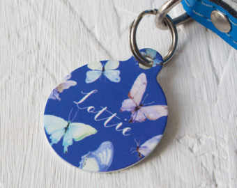 Personalised Personalised Butterfly Pet ID Tag
