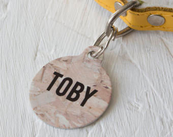 Personalised Ply Wood Pet ID Tag