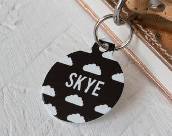 Personalised Cloud Pet ID Tag