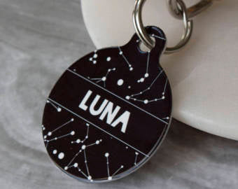 Personalised Constellation Pet ID Tag