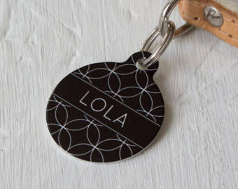 Personalised Geometric Circle Pet ID Tag