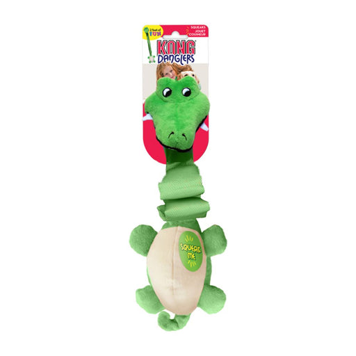 KONG Danglers Alligator Dog Toy