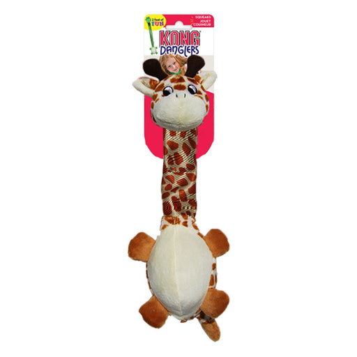 KONG Danglers Giraffe Dog Toy
