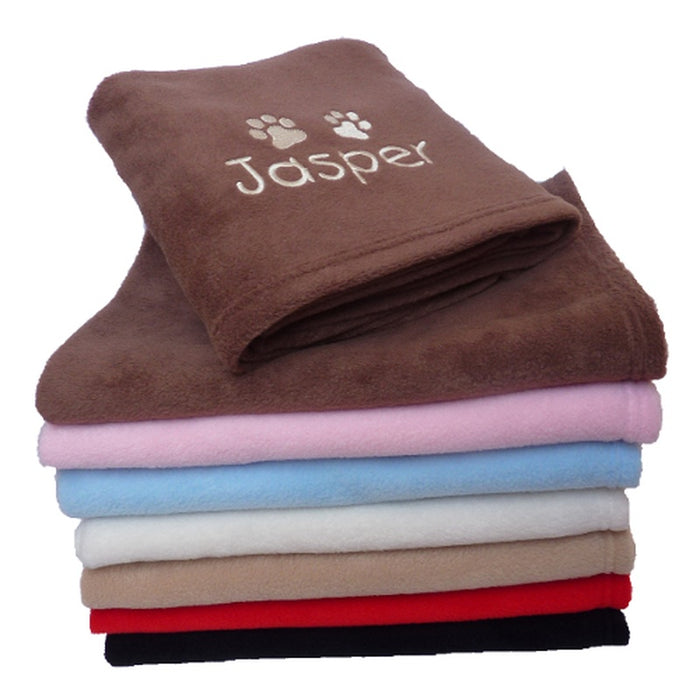 Personalised Small Dog Blanket - Red - My Posh Paws - My Pet Gift Box