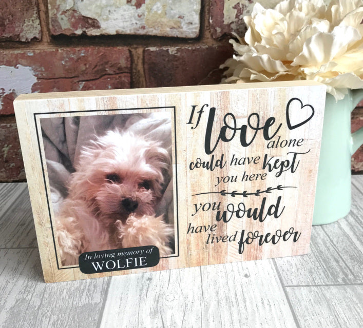 Personalised Pine Pet Memorial - I Love Alone - Harts Craft - My Pet Gift Box