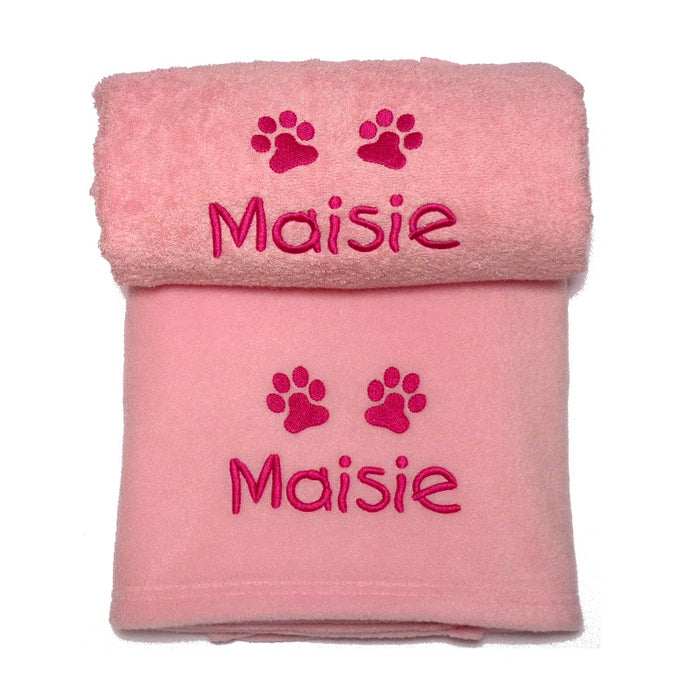 Personalised Puppy Girl Gift Set - My Posh Paws - My Pet Gift Box