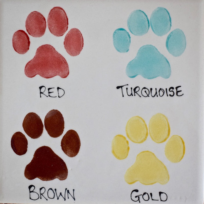 Personalised Paw Print Design Dog Bowl - Crazy Fur You - My Pet Gift Box