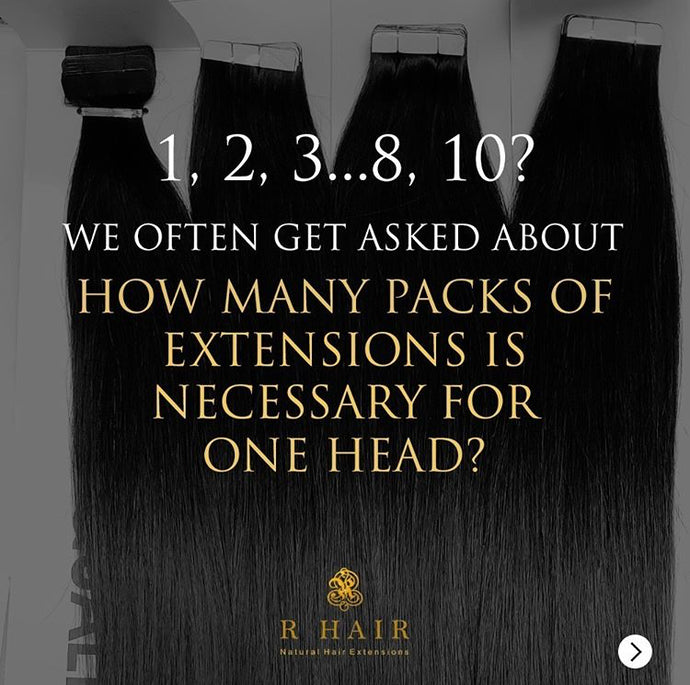 How many packs of Extensions is necessary for one head?