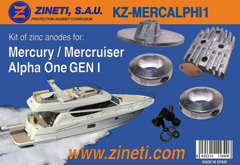 MERCURY / MERCRUISER Alpha One Gen 1 Zinc Anode Kit