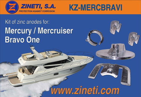 Mercury / Mercruiser Bravo One Zinc anode kit