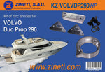 Volvo 290 Duo Prop Zinc Anode Kit Includes Triangles