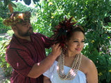 !! HAWAIIAN HULU HAIRPIECE WORKSHOP (STAY-AT-HOME)