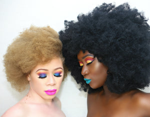 Colorful White and dark skin makeup