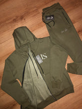 Load image into Gallery viewer, Khaki Luxe Tracksuit