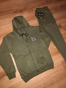 Khaki Luxe Tracksuit