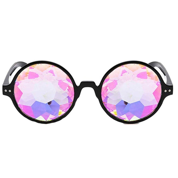 kaleidoscope glasses, jewel glasses, rave glasses, photo booth glasses