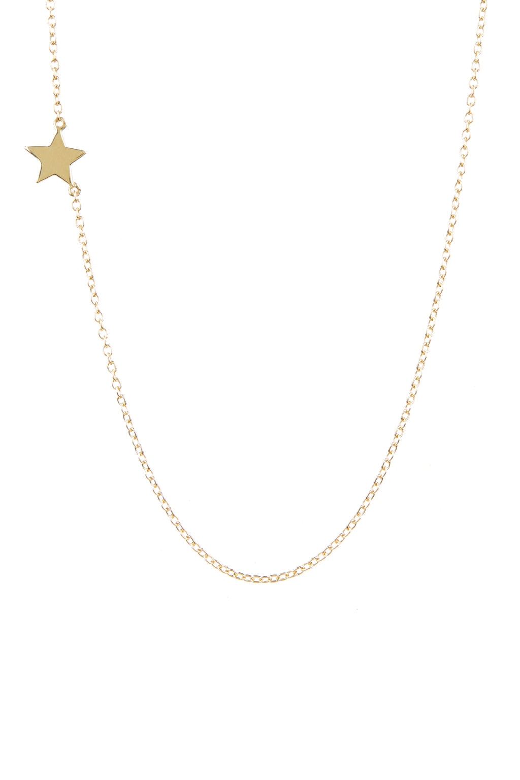 Single Star Necklace | Gold