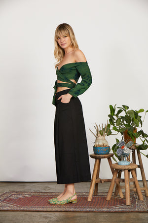 Black Pleated Pant Aakaar