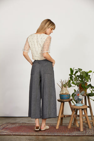 Charcoal Pleated Pant Aakaar