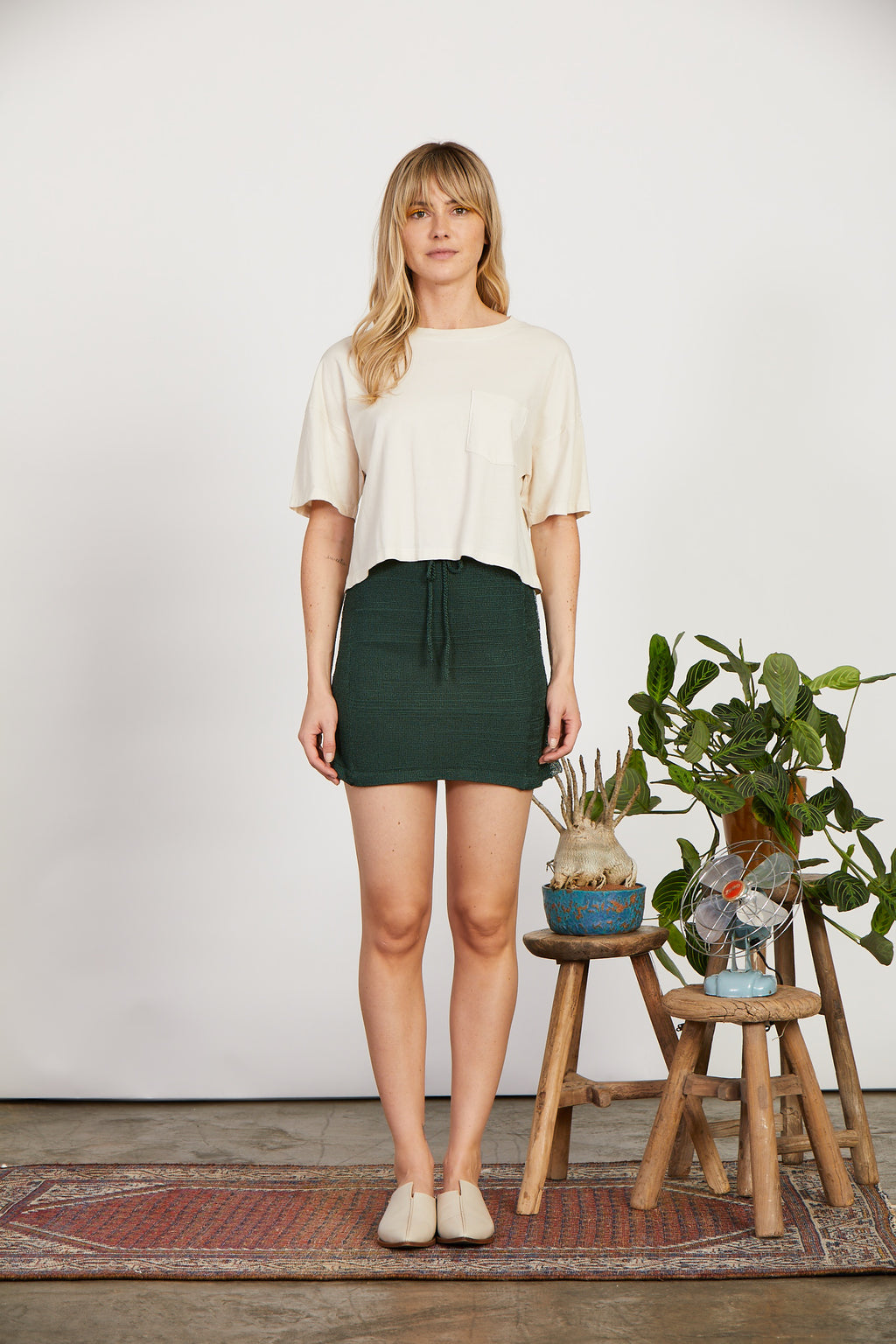 Knit Skirt | Pine/Sparkle