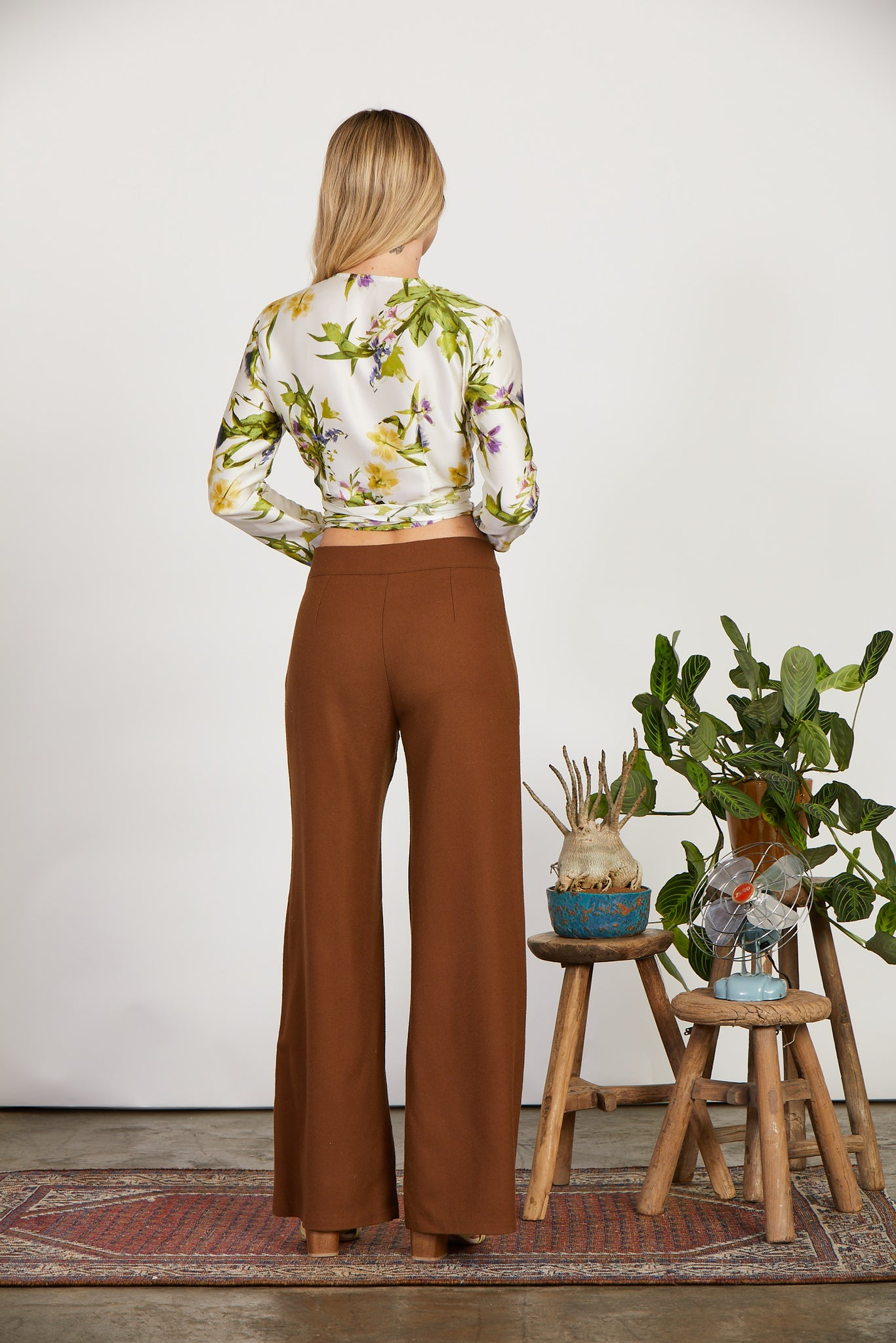 Palazzo Pant | Red Earth Wool