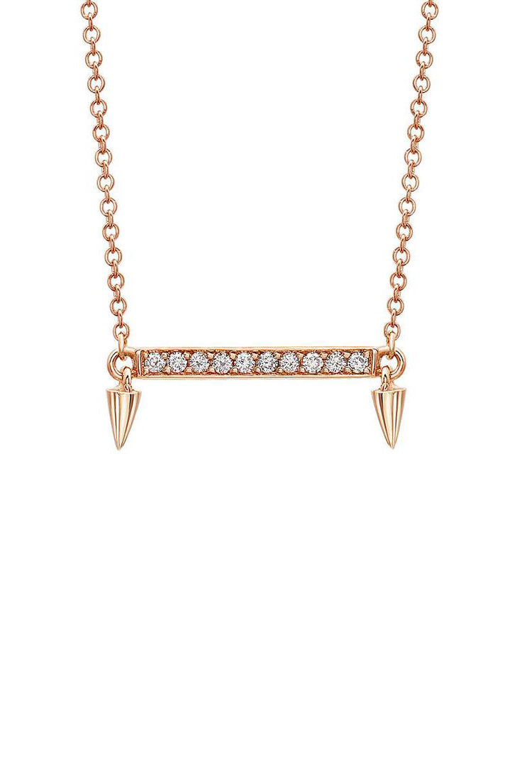 Small Horizontal Bar Diamond Necklace | Return Sans