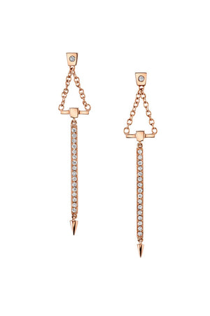 Diamond Bar Dropped Earrings | Return Sans