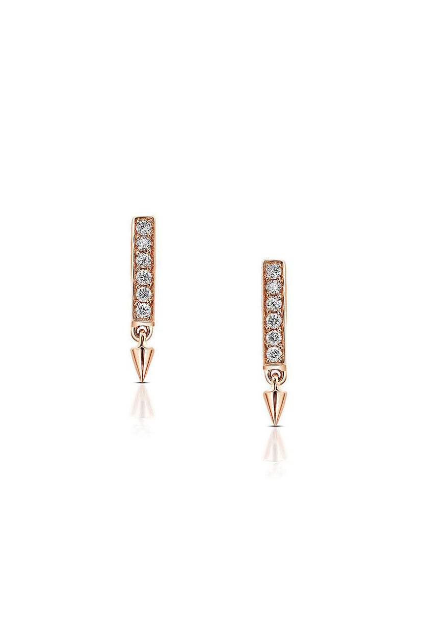 Diamond Bar Earrings | Return Sans