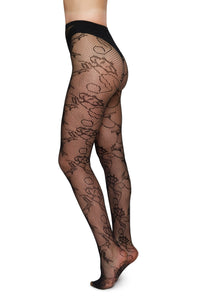 Frida Lace Tights | Black
