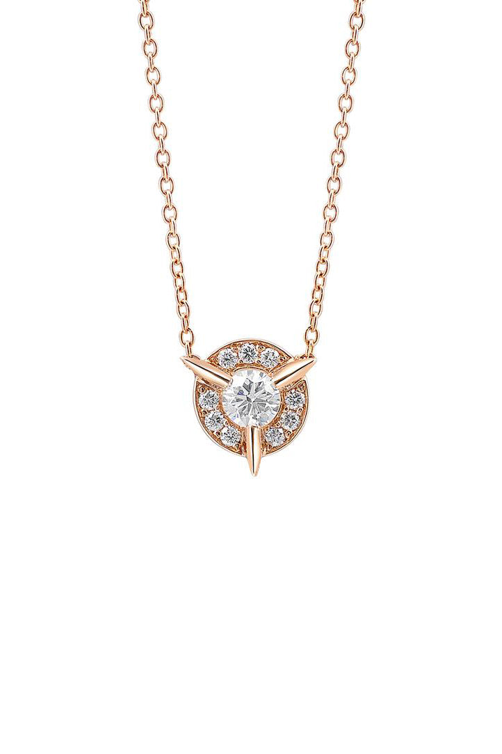 Dainty Diamond Necklace with Diamond Center | Cycles Sans