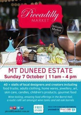 Piccadilly Market - Sunday October 7 at Mt Duneed Estate