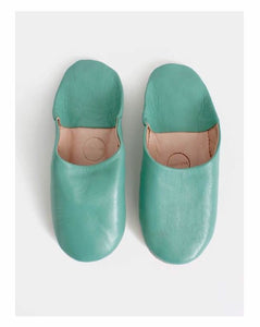 Jade and May Slipper Collection. Traditional Moroccan Leather Babouche Slippers, buttery quality leather. Handmade in Morocco