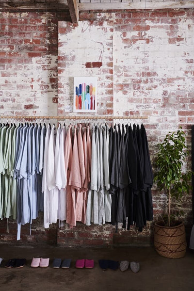 Sleepwear made from natural fibres