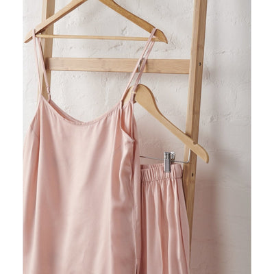 Bamboo Satin Cami and Short Set in Dusky Rose | Jade and May -Pajamas- Jade and May