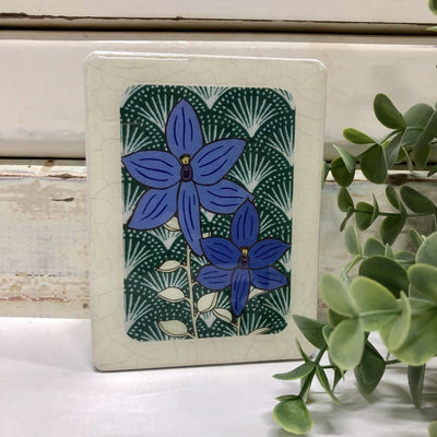 Blue Orchid Woodblock Art | Lost and Found Art Co -Art- Jade and May