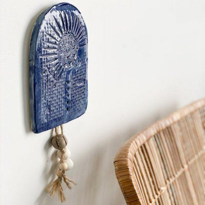 Ceramic Arch Wall Hanging - Blue | Caroline C -Art- Jade and May