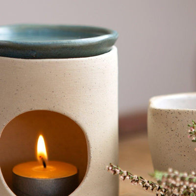 Ceramic Oil Burner in Natural Base | Kim Wallace Ceramics -Ceramics- Jade and May